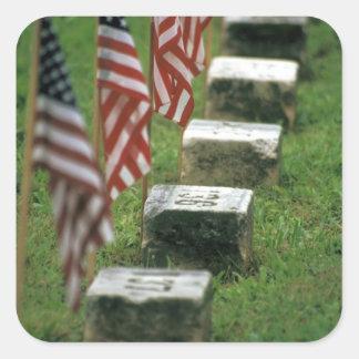 USA, Pennsylvania, Gettysburg. Civil war Square Sticker