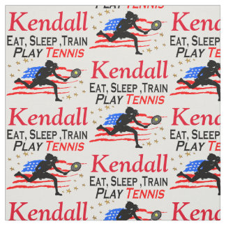 USA PLAY TENNIS PERSONALIZED FABRIC