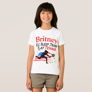 USA PLAY TENNIS PERSONALIZED T SHIRT