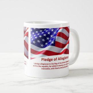 USA Pledge of Allegiance Jumbo Mug