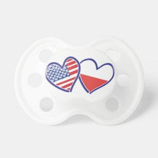 USA Poland Flag Hearts Dummy