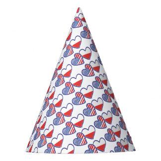 USA Poland Flag Hearts Party Hat
