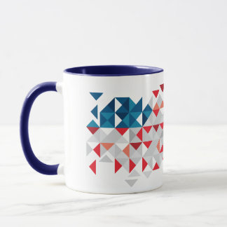 USA Polygon Art, Abstract American Flag Mug
