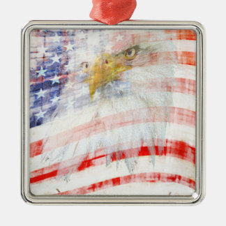USA Proud Metal Ornament