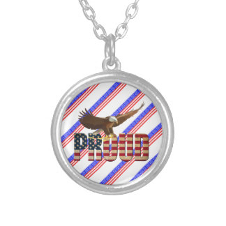 Usa proud silver plated necklace