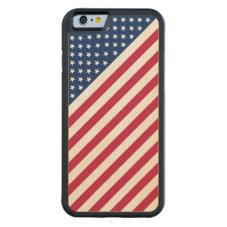 USA Red Blue White Stripes Stars Flag iPhone6 Case Maple iPhone 6 Bumper Case