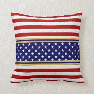 USA Red Stripes Blue Stars Decor-Soft Pillows