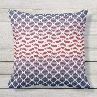 USA Red, White and Blue Outdoor Cushion