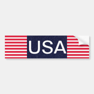 USA Red White and Blue Patriotic 4th of July Car Bumper Sticker