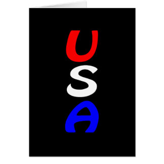 USA Red, White & Blue Card