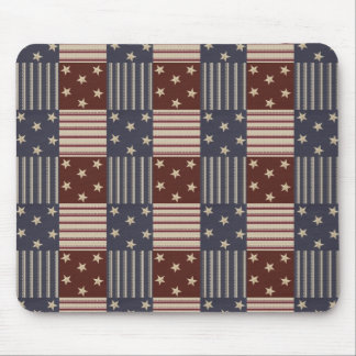 USA Red White Blue Stars Stripes Mousepad