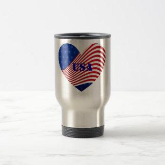 USA - Red White & Blue Stars & Stripes Travel Coffee Mugs