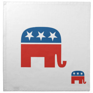 usa republicans party elephant united states printed napkins