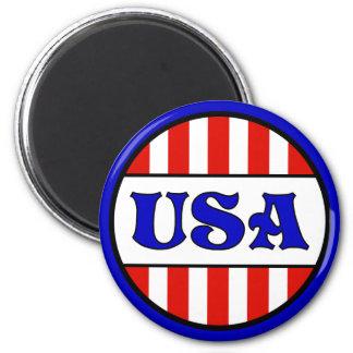 USA Retro Style 6 Cm Round Magnet