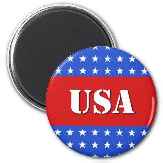USA Round Magnet