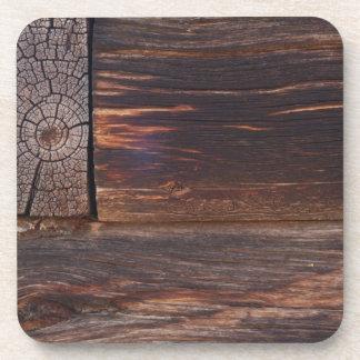 USA, Salmon, Idaho, Log Cabin Drink Coasters