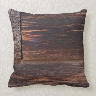 USA, Salmon, Idaho, Log Cabin Pillows