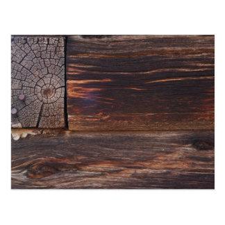 USA, Salmon, Idaho, Log Cabin Postcard