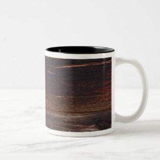 USA, Salmon, Idaho, Log Cabin Two-Tone Coffee Mug