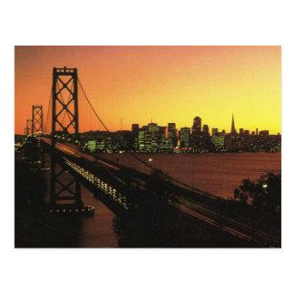 USA San Fransisco, Golden Gate at sunset Postcard