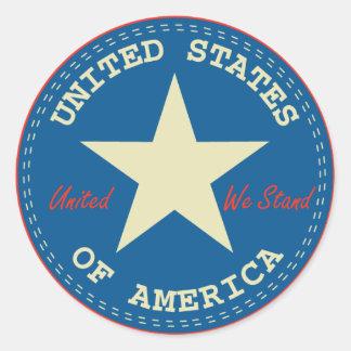 USA Seal Round Sticker