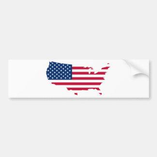 USA-Shaped Flag Bumper Sticker
