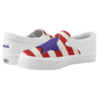 USA Shoes - American Flag - Stars & Stripes Printed Shoes