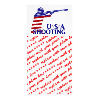 USA Shooting Red White And Blue Rifle Picture Card