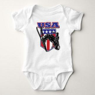 USA-Skier Baby Bodysuit