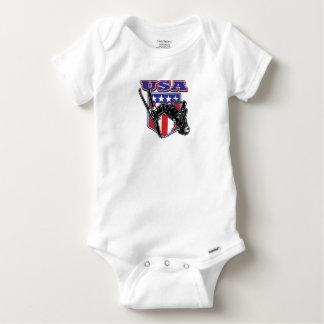 USA-Skier Baby Onesie
