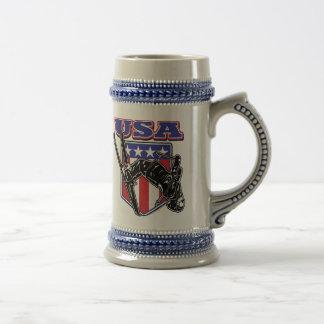 USA-Skier Beer Stein