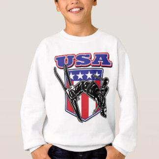 USA-Skier Sweatshirt