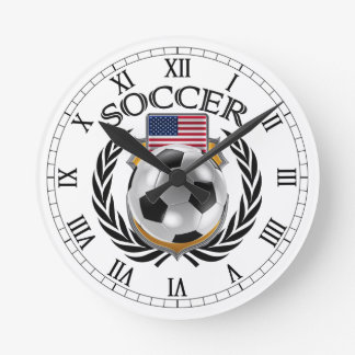USA Soccer 2016 Fan Gear Round Clock