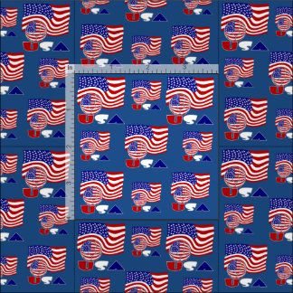 USA Soccer Ball and Flag Fabric