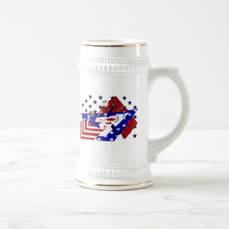 USA soccer Bicycle kick futbol lovers gifts Beer Steins