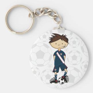 USA Soccer Boy Keychain