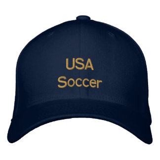 USA Soccer Cap for United States futbol fans Embroidered Cap