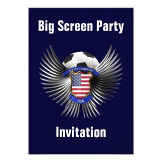 USA Soccer Champions Personalized Invitations