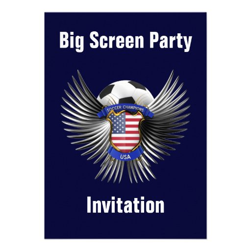 USA Soccer Champions Personalized Invitations