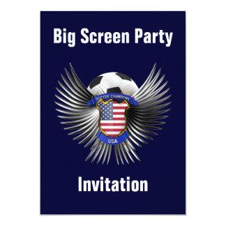 "USA Soccer Champions 5"" X 7"" Invitation Card"