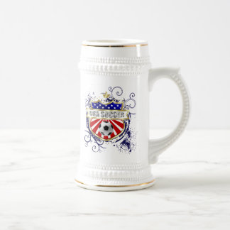 USA Soccer emblem badge Beer Stein