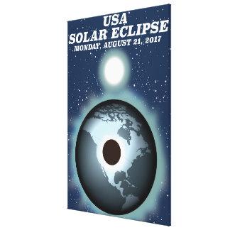 USA Solar Eclipse 2017 vintage poster Canvas Print