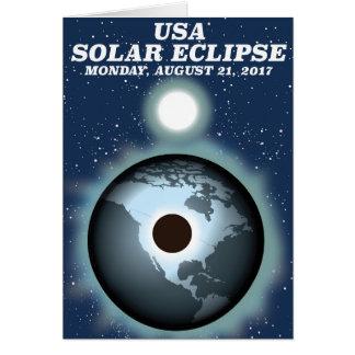 USA Solar Eclipse 2017 vintage poster Card