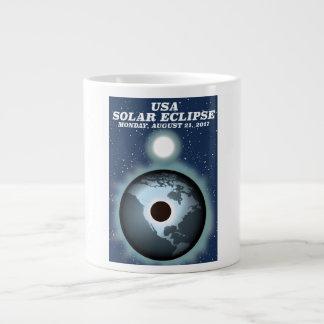 USA Solar Eclipse 2017 vintage poster Large Coffee Mug