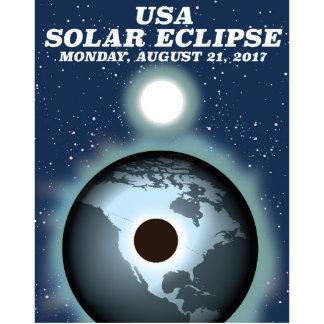 USA Solar Eclipse 2017 vintage poster Standing Photo Sculpture