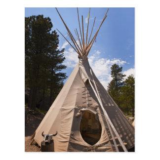 USA, South Dakota, Traditional Indian teepee Postcard
