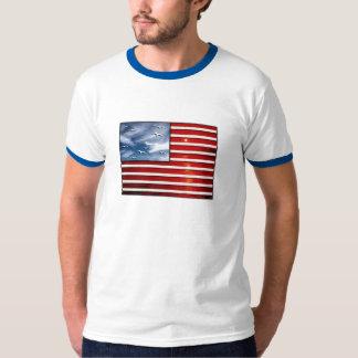 USA-Spacious Skies Flag T-Shirt