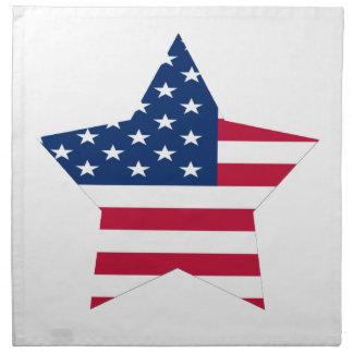 USA Star American Flag Napkin