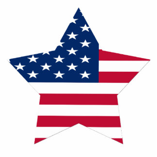 USA Star American Flag Photo Sculpture Magnet
