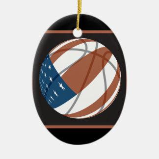 usa stars and stripes basketball christmas ornaments